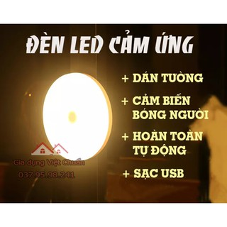 Đèn led cảm ứng dán tường sạc điện cảm biến bật tắt đèn tự động khi di chuyển cảm biến cả ban đêm sk279