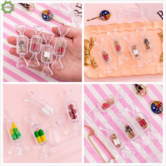Hộp nhựa trong suốt hình viên kẹo đựng trang sức sáng tạo