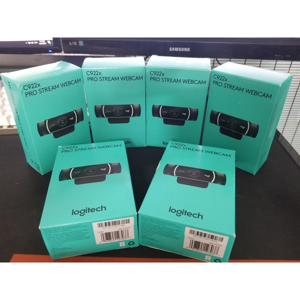 Webcam cho máy tính Logitech C922X – Hộp còn Nguyên Seal mới 100% ( Hàng Chính Hãng) – Pro Stream Webcam Giá chỉ 1.500.000₫