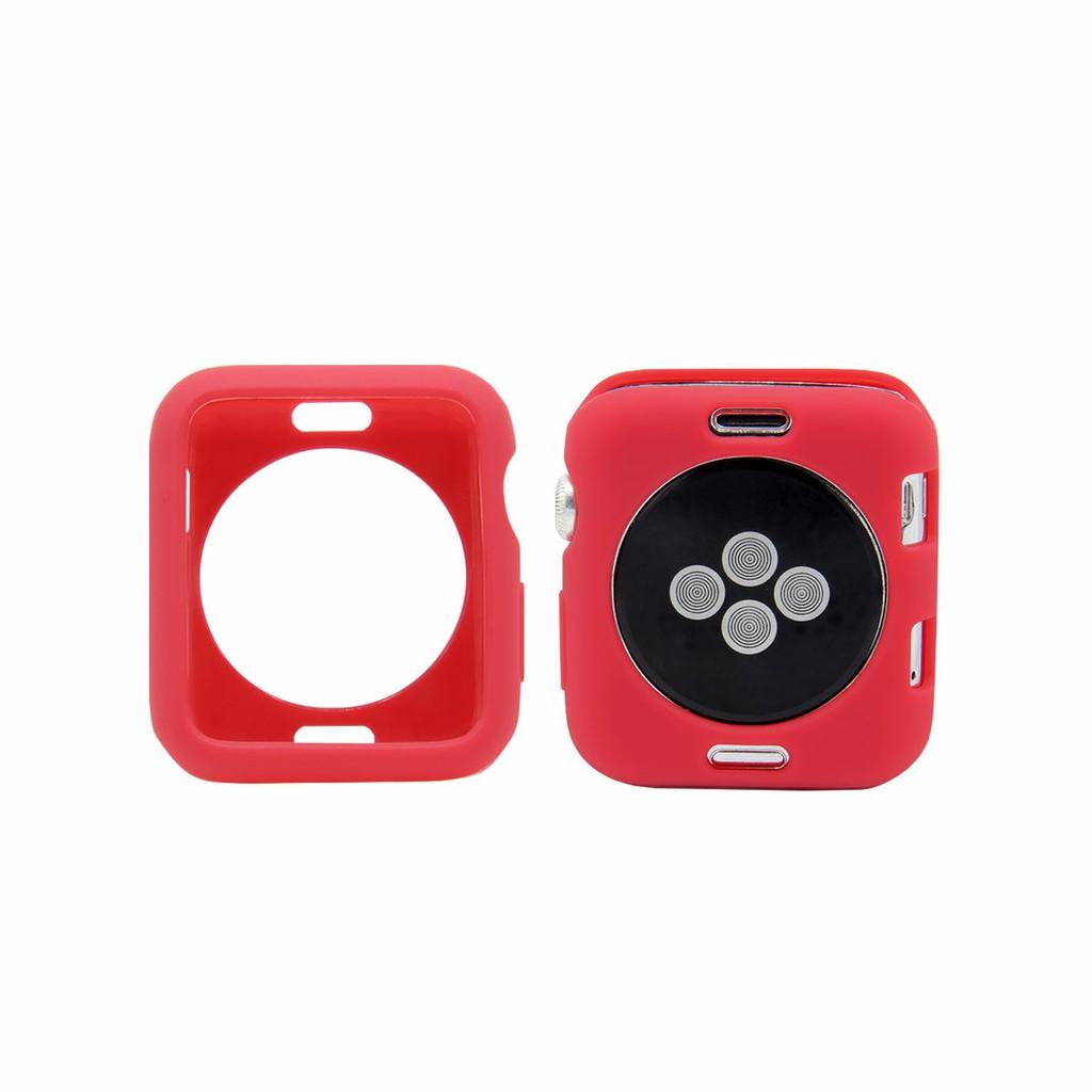 Ốp mềm màu trơn thời trang cho đồng hồ Apple 38mm/42mm/40mm/44mm Series se/6/5/4/3 / 2 / 1
