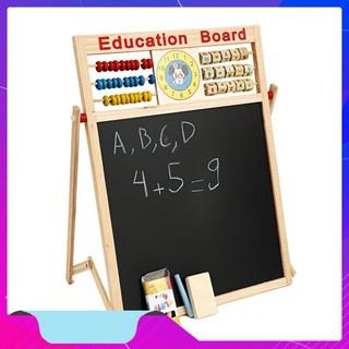 [GIÁ SỐC] Bảng Từ 2 Mặt Education Board Và Bộ Số Kèm Bảng Gỗ Có Núm Phương Tiện Tiện Dụng