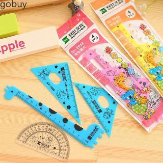 Creative Practical Children's Stationery Random Color Cute Giraffe Ruler Set vn