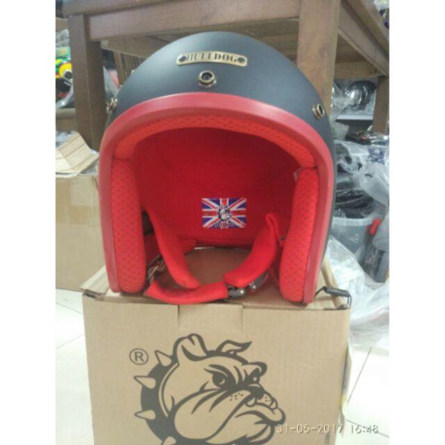 Nón bảo hiểm Bulldog Đen đỏ