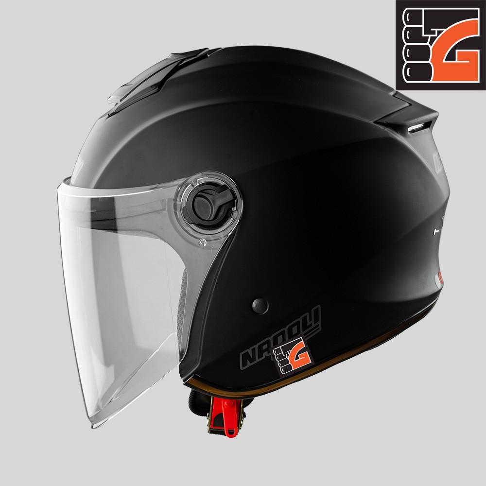 ✅[GLOVESZONE] Mũ bảo hiểm 3/4 kính NAPOLI X3 đen nhám - Hàng Chính hãng