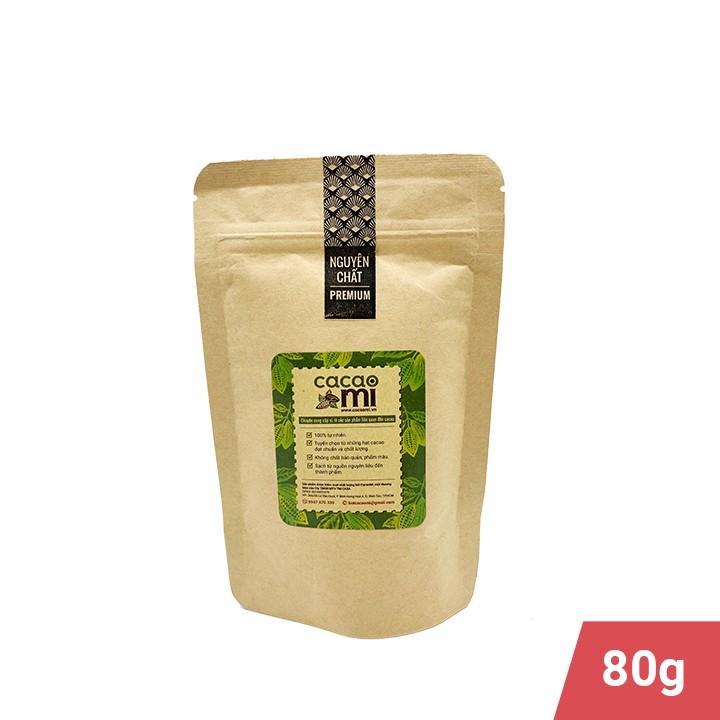 Bột ca cao nguyên chất Cacao Mi loại Premium chuẩn Keto - 80g
