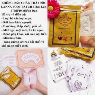 10 Miếng Dán Chân Thải Độc Thái Lan Detox Lanna Foot Patch👍