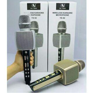 Micro Karaoke Bluetooth cao cấp SU YOSD YS-92 âm thanh cực vang (nhiều màu) kèm