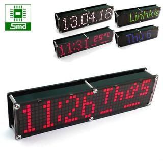Đồng hồ LED Matrix 8x40 V2 màu đỏ để bàn, chạy chữ theo sở thích, pin sạc,đo nhiệt độ