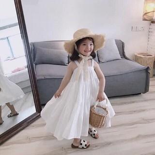 Váy maxi cho bé gái, Váy 2 dây tầng xoè cho bé, kèm hình ảnh thật