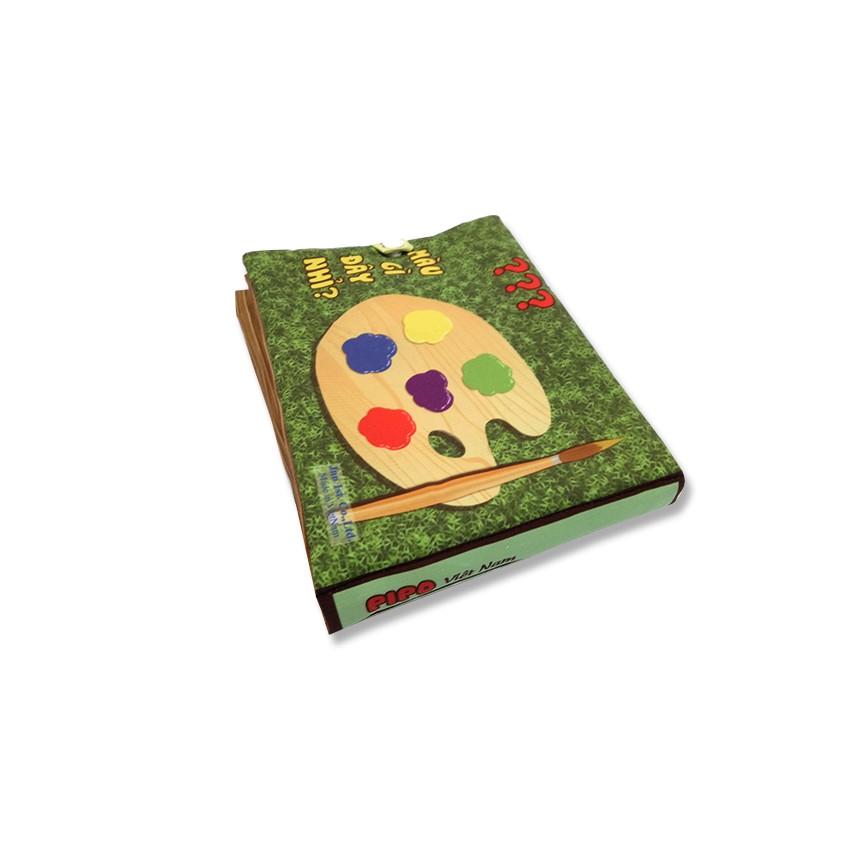 Bộ 4 sách vải Pipovietnam (Hoa quả, chữ cái Tiếng Việt, số đếm, hình khối)