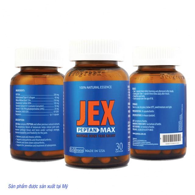 Viên uống bổ khớp, tái tạo sụn khớp Jex max 30 viên