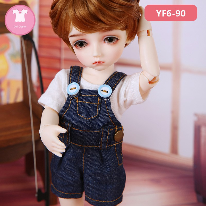 hes] bjd sd doll baby clothes 6 points Yosd bwy body suit overalls T-shirt dress