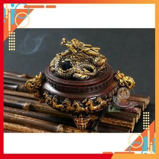 Lư Hương Đốt Trầm,Họa Tiết Đỉnh Rồng Ngự- Mã Đáo Thành Công,Lư Hương Như Ý Shop Lâm Viên
