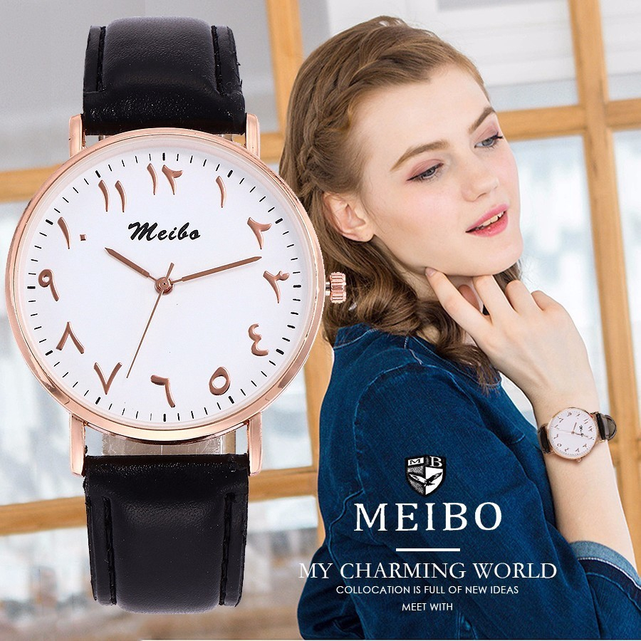 Women Casual Leather Strap Quartz Wristwatches Clock Gifts