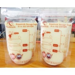 Túi Trữ Sữa 100ml Kichilachi (Hộp 30 Túi)[ tặng kèm 1 bút ghi thông tin] thumbnail