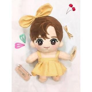 [Outfit Doll 20cm] Set Váy Nơ