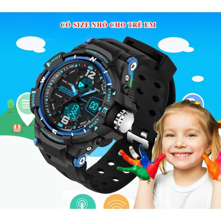 Đồng hồ Trẻ Em thể thao SANDA JAPAN Chống nước Siêu bền [HÀNG XỊN]