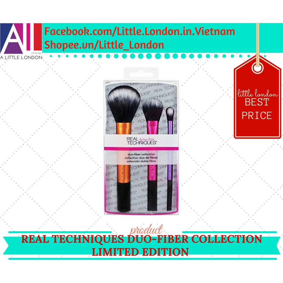 Bộ cọ Real Techniques Duo-Fiber Collection Limited Edition (Bill Anh)