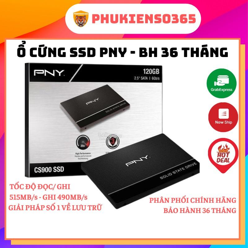 Ổ cứng SSD 2.5inch PNY 120GB/ 240GB/ 480GB/ 960GB SATA 3 - BH 36 Tháng