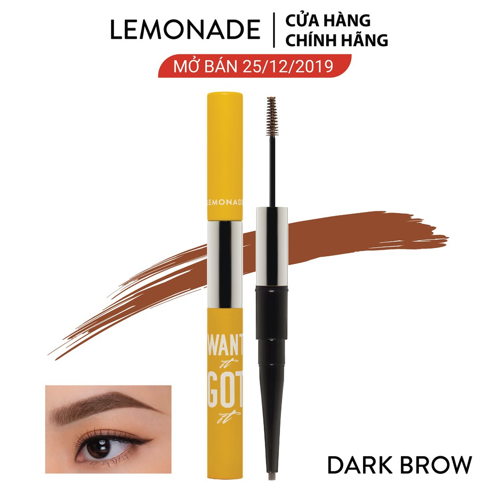 Chì kẻ mày 2 đầu Lemonade Want It Got It Dual Eyebrow 4g #0