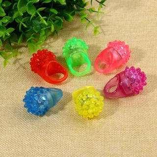 6 Pack Led Rubber Rings For Party Favors Jelly Bubble Light Up Finger Toy