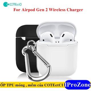 (Airpod Gen 2 Không dây)Ốp TPU siêu mền ,mỏng chính hãng COTEetCI cho Apple Airpod Gen 2 Wireless Charger