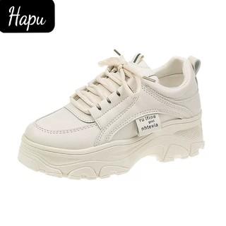 Giày sneakers nữ Rong Ye kiểu hàn quốc siêu Hot , mới nhất 2020 HAPU ( kem , trắng ) thumbnail
