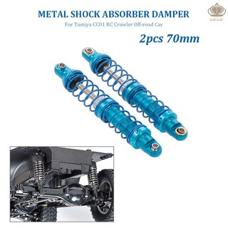 Coco* 2pcs Shock Absorber Damper 70mm Metal for Tamiya CC01 RC Crawler Off-road Car