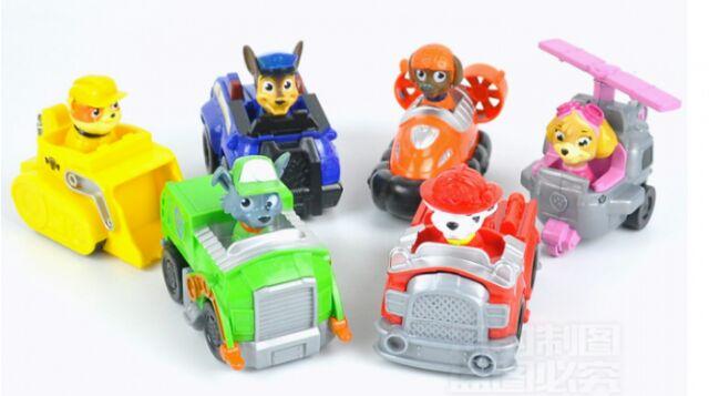 Set 6 xe đồ chơi đội chó cứu hộ- Paw patrol