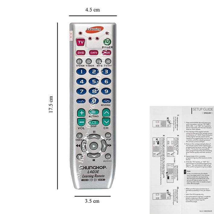 Remote học lệnh Chunghop L403E