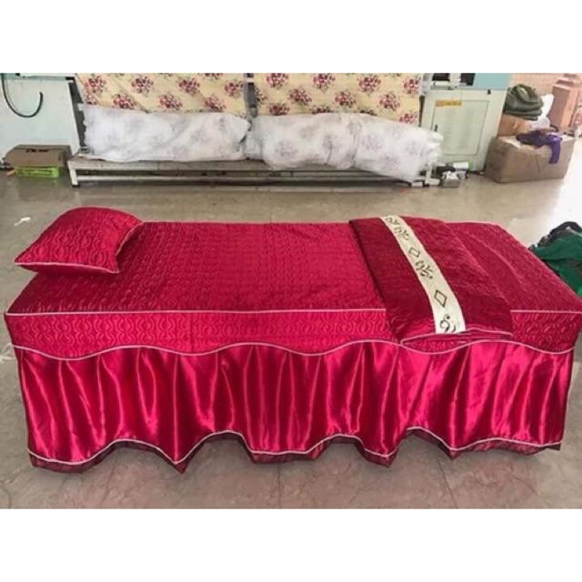 Ga (grap) trần bông phủ giường spa, nail, phun xăm