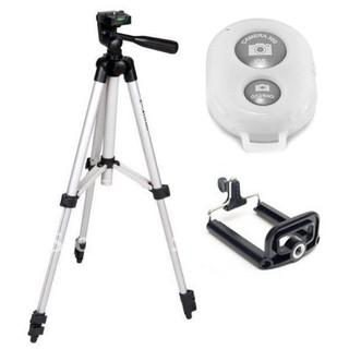 Bộ chân máy chụp hình Tripod 3110 + Remote + Đầu kẹp điện thoại