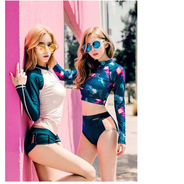 Đồ bơi bikini dài tay phong cách Hàn quốc