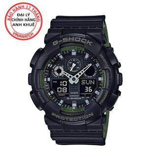 Đồng hồ Nam G-Shock Casio dây nhựa kim-điện tử GA-100L-1ADR - Chính hãng Casio Anh Khuê thumbnail