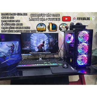 Bộ máy tính chơi PUBG cấu hình i5-4570 , Màn hình cong 24inch mới Giá rẻ