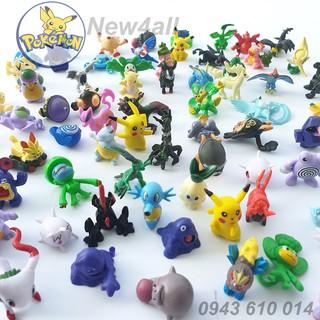Đồ chơi 50 con Anime POKEMON bằng nhựa size nhỏ 2-3 cm tuyển tập Pokemon đa hệ mẫu ngẫu nhiên (Set Poke'mon) - New4all