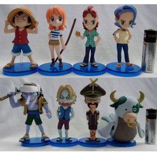 CHÍNH HÃNG Set 8 mô hình One Piece WCF tv Vol.12 Arlong Pirates Vua hải tặc