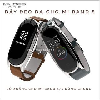 Dây da Mijobs cho Mi band 5 Dây Mi band 4, Dây Miband 3 làm bằng da - Chính hãng Mijobs thumbnail