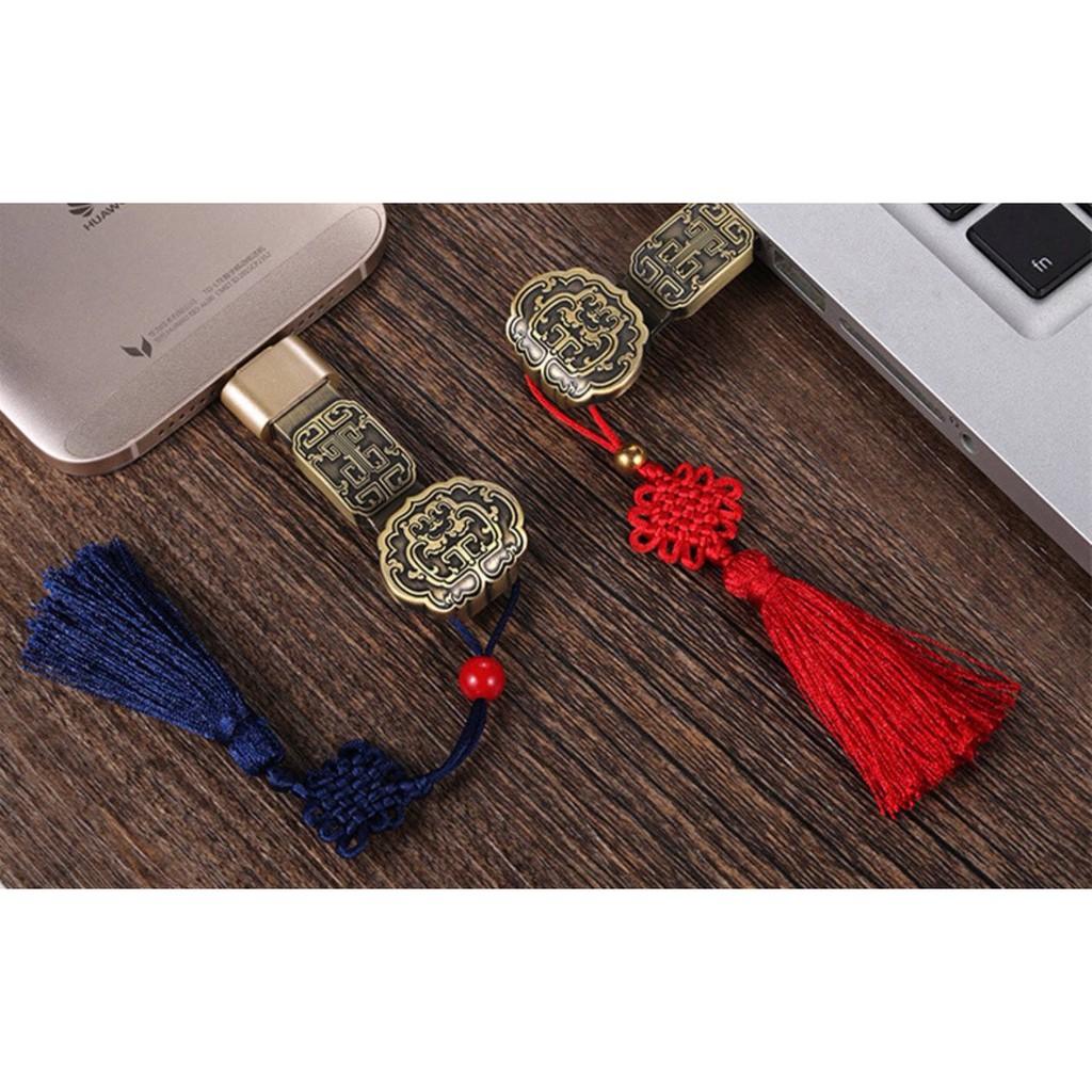 (16GB) USB phong cách quý tộc, hoàng kim Giá chỉ 230.000₫