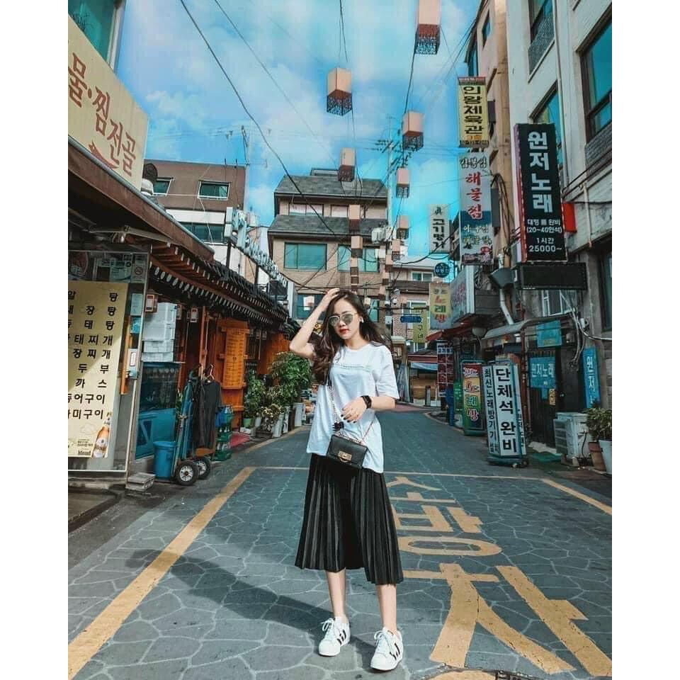 Chân Váy Nữ - Chân Váy Xếp Li Dáng Dài - EVA30