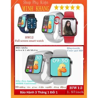 [Deal Sốc] Đồng Hồ Thông Minh HW12-40mm Thay Dây - Đổi Hình Nền - Chống Nước - Đo Nhịp Tim, Bước Chân- Kết Nối Bluetooth