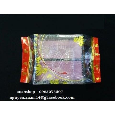Khay túi lá đỏ 150-200gr (100 bộ)