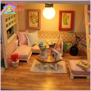 BABY Creative DIY Doll House Furniture Miniature 3D Wooden Castle Toys Birthday Gifts for Children