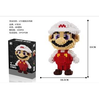 Bộ lắp ghép LEGO – Mario mũ trắng WHITE MARIO gồm 4500 mảnh