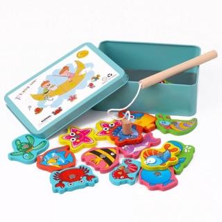 Bộ đồ chơi câu cá gỗ