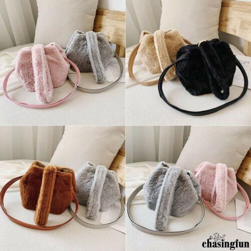 ✦YR-Womens Handbags Small Furry Crossbody Bag Purse Vintage Cell Phone Travel Bag