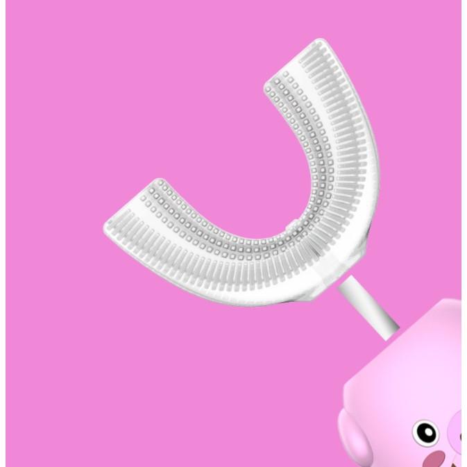 Bàn Chải Điện Chữ U Cho Bé Baby Brush ( mẫu mới vệ sinh được toàn khoang miệng, bé không còn lười đánh răng)