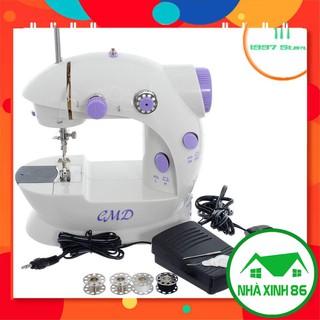 [TẶNG HỘP CHỈ] Máy may mini 2 chế độ, máy khâu mini có đèn led may được vải jean, vải thun, voan l Tặng kèm hộp kim chỉ