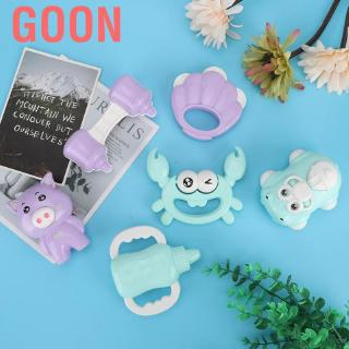 Goon 6pcs/set Baby Plastic Animal Rattles Toy Newborn Hand Shake Bed Bell Musical Toys