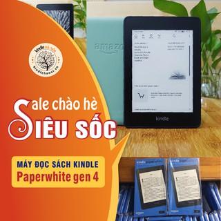 Máy đọc sách Kindle Paperwhite 4 (10th), màn hình 6'' 300PPI, Darkmode, chống nước